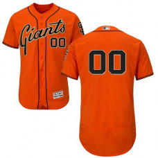 Custom San Francisco Giants Orange Flexbase Authentic Collection Jersey