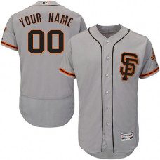 Custom San Francisco Giants Gray Flexbase Authentic Collection Jersey