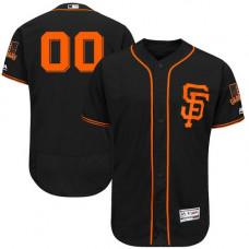Custom San Francisco Giants Authentic Black Alternate Cool Base Jersey