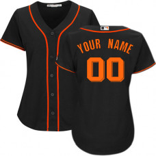 Women's Custom San Francisco Giants Replica Black Alternate Cool Base Jersey