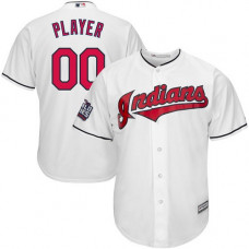 Youth Custom Cleveland Indians Authentic White Home 2016 World Series Bound Cool Base Jersey