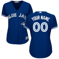 Women's Custom Toronto Blue Jays Replica Blue Alternate Jersey