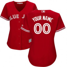 Women's Custom Toronto Blue Jays Replica Scarlet Alternate Jersey