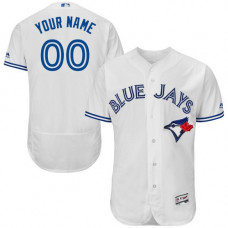 Custom Toronto Blue Jays White Flexbase Authentic Collection Jersey