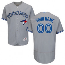Custom Toronto Blue Jays Grey Flexbase Authentic Collection Jersey