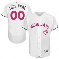 Custom Toronto Blue Jays Authentic White 2016 Mother's Day Fashion Flex Base Jersey