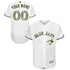 Custom Toronto Blue Jays Authentic White 2016 Memorial Day Fashion Flex Base Jersey
