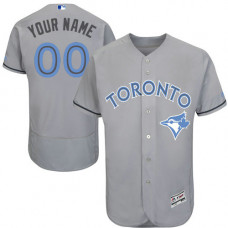 Custom Toronto Blue Jays Authentic Gray 2016 Father's Day Fashion Flex Base Jersey