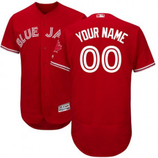 Custom Toronto Blue Jays Scarlet Flexbase Authentic Collection Alternate Jersey