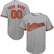 Custom Baltimore Orioles Authentic Grey Road Cool Base Jersey