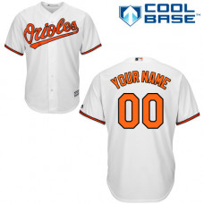 Youth Custom Baltimore Orioles Authentic White Home Cool Base Jersey