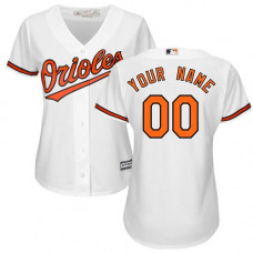 Women's Custom Baltimore Orioles Authentic White Home Cool Base Jersey