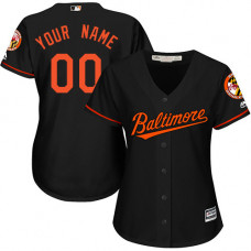 Women's Custom Baltimore Orioles Replica Black Alternate Cool Base Jersey