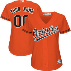 Women's Custom Baltimore Orioles Authentic Orange Alternate Cool Base Jersey