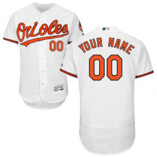 Custom Baltimore Orioles White Flexbase Authentic Collection Jersey