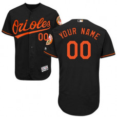 Custom Baltimore Orioles Black Flexbase Authentic Collection Jersey