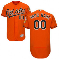 Custom Baltimore Orioles Orange Flexbase Authentic Collection Jersey