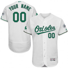 Custom Baltimore Orioles White Celtic Flexbase Authentic Collection Jersey