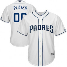 Custom San Diego Padres Authentic White Home Cool Base Jersey