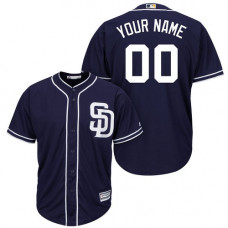 Custom San Diego Padres Authentic Navy Blue Alternate 1 Cool Base Jersey