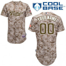 Youth Custom San Diego Padres Authentic Camo Alternate 2 Cool Base Jersey