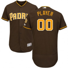 Custom San Diego Padres Authentic Brown Alternate Cool Base Jersey