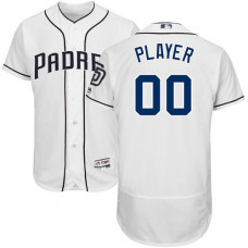 Custom San Diego Padres White Flexbase Authentic Collection Jersey