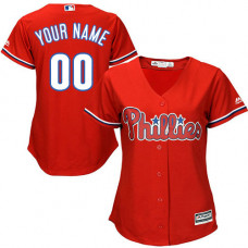 Women's Custom Philadelphia Phillies Authentic Red Alternate Cool Base Jersey