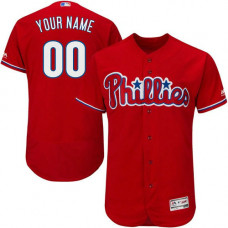 Custom Philadelphia Phillies Red Flexbase Authentic Collection Jersey