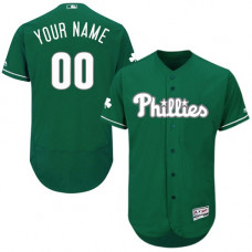 Custom Philadelphia Phillies Green Celtic Flexbase Authentic Collection Jersey