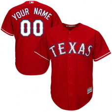 Custom Texas Rangers Authentic Red Alternate Cool Base Jersey