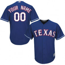 Custom Texas Rangers Authentic Royal Blue Alternate 2 Cool Base Jersey