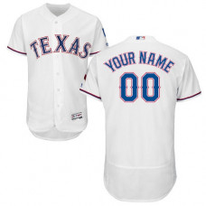 Custom Texas Rangers White Flexbase Authentic Collection Jersey
