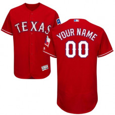 Custom Texas Rangers Red Flexbase Authentic Collection Jersey