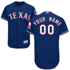 Custom Texas Rangers Royal Blue Flexbase Authentic Collection Jersey