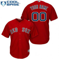 Custom Boston Red Sox Replica Red Alternate Home Cool Base Jersey