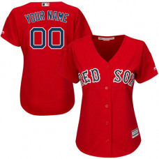 Women's Custom Boston Red Sox Authentic Red Alternate Home Cool Base Jersey