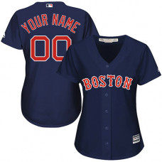 Women's Custom Boston Red Sox Replica Navy Blue Alternate Road Cool Base Jersey