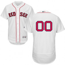 Custom Boston Red Sox White Flexbase Authentic Collection Jersey