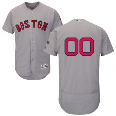 Custom Boston Red Sox Grey Flexbase Authentic Collection Jersey