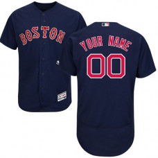 Custom Boston Red Sox Navy Blue Flexbase Authentic Collection Jersey