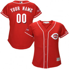 Women's Custom Cincinnati Reds Replica Red Alternate Cool Base Jersey
