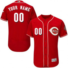 Custom Cincinnati Reds Red Flexbase Authentic Collection Jersey