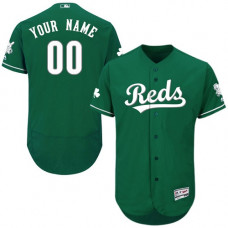 Custom Cincinnati Reds Green Celtic Flexbase Authentic Collection Jersey