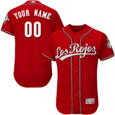 Custom Cincinnati Reds Red Los Rojos Flexbase Authentic Collection Jersey