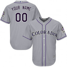 Custom Colorado Rockies Replica Grey Road Cool Base Jersey