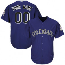 Custom Colorado Rockies Authentic Purple Alternate 1 Cool Base Jersey