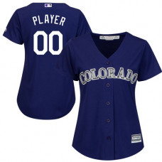 Women's Custom Colorado Rockies Replica Purple Alternate 1 Cool Base Jersey