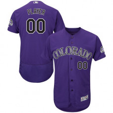 Custom Colorado Rockies Purple Flexbase Authentic Collection Jersey
