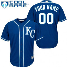 Custom Kansas City Royals Authentic Blue Alternate 2 Cool Base Jersey